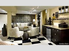 Living Room Design Ideas, Basement Makeovers from Candice
