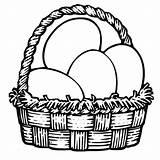Easter Eggs Coloring Basket Netart sketch template