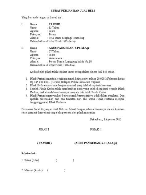 surat perjanjian jual belidoc