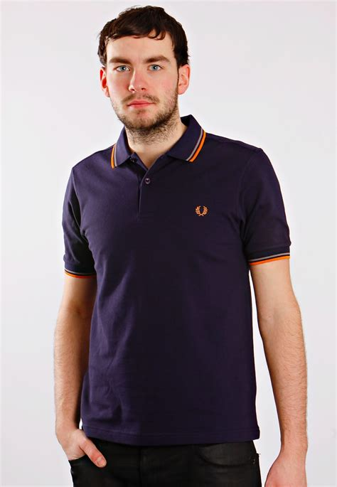 fred perry köln fred perry slim fit tipped carbon blue polo streetwear shop impericon worldwide