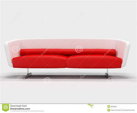 red and white sofa red and white sofa royalty free stock photo image 6636225