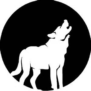 Howling Wolf Pumpkin Stencil