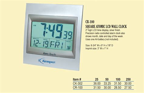 atomic desk clock corporategifts 4 less custom logo and personalized gift