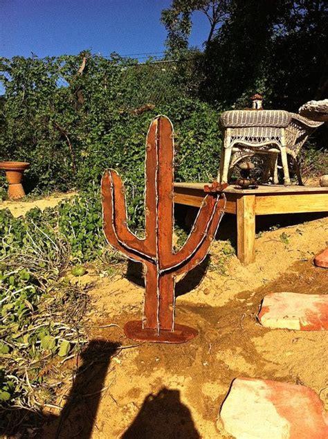 barb wire cactus saguaro rustic cactus metal garden