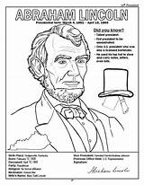 Coloring Pages Lincoln Abraham Presidents President Printable Jefferson Thomas Congress American Andrew Jackson Books Sheets States United Log Activity Template sketch template