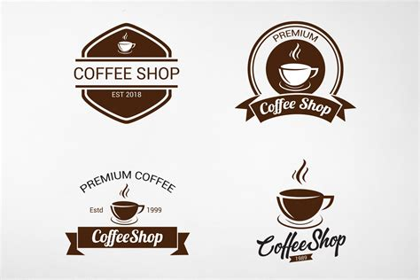 Coffee logo design gallery, updated daily. Vintage Coffee Logo | Creative Logo Templates ~ Creative Market