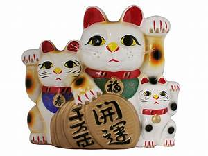 Thirteen Inch Maneki Neko Family Lucky Cat Bank
