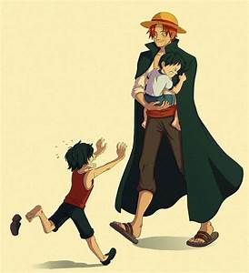 Ace, Luffy, and Shanks _One Piece | One Piece | Pinterest