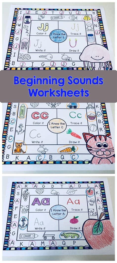 beginning sounds worksheets beginning sounds worksheets