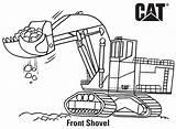 Caterpillar Shovel sketch template