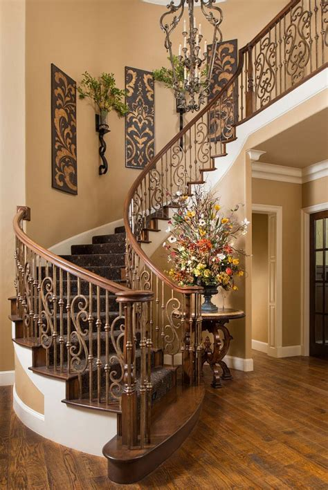 Decorating Ideas Stairs by Beautiful Tuscan Staircase Wesley Wayne Interiors ᘡղbᘠ