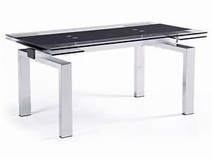 Conforama Table De Cuisine : table verre trempe conforama ~ Teatrodelosmanantiales.com Idées de Décoration