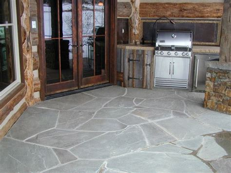 pioneer blue flagstone from pine s stone co patio ideas