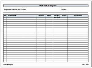 Haushalt Organisieren Plan Vorlage : ma nahmenplan vorlage zum download zeitbl ten ~ Buech-reservation.com Haus und Dekorationen