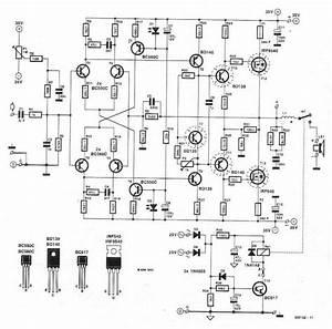 High Power 250 Watt Mosfet Dj Amplifier Circuit