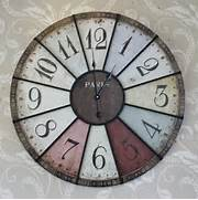 Wall Clocks Large by Large Coloured Paris Wall Clock Melody Maison