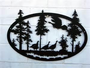 Pattern Silhouette Metal Art Plasma
