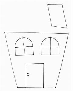 peek a boo haunted house With printable house template for kids