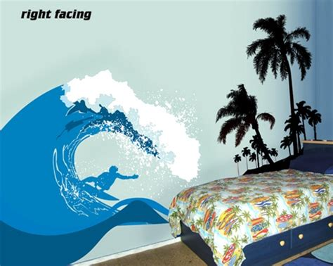 surfs  ocean wave wall decal sticker
