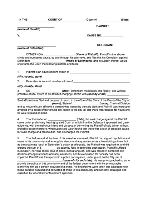 Letter to police example 1: Fill, Edit and Print Complaint for Malicious Prosecution ...