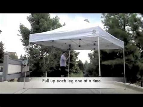person setup  instant canopy youtube
