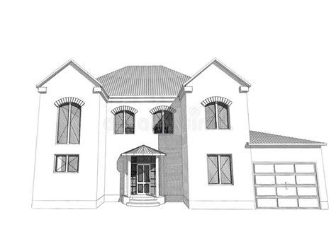 residential house  stock illustration illustration