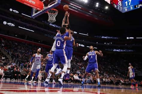 NBA 2020-21:Philadelphia 76ers vs Detroit Pistons ...