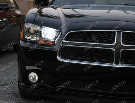 dodge charger led drl on high beam 9005 led bulbs