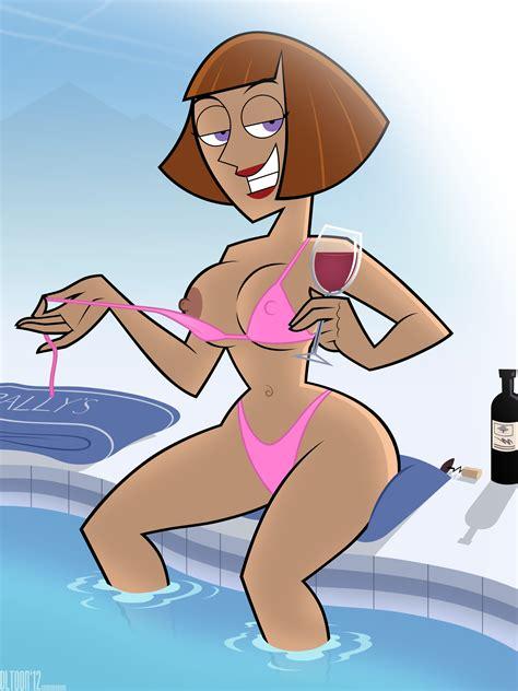 xbooru bikini breasts danny phantom dlt madeline fenton milf smile teasing wine 225086