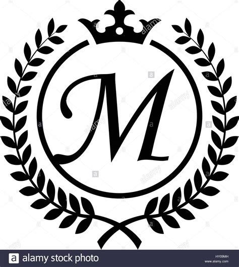 vintage letter  initial  laurel wreath symbol design stock vector image art alamy