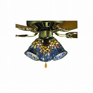 Meyda tiffany light mahogany bronze ceiling fan kit with stained glass at lowes