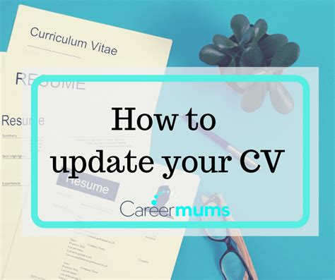 How To Update Your Cv by How To Update Your Cv Career Mums
