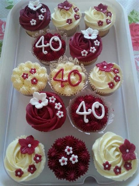 40th Anniversary Decorations - ruby wedding anniversary cupcakes ruby in 2019 40th