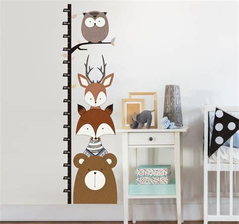 Wandtattoo Kinderzimmer Waldtiere by Wandtattoo Messlatte Waldtiere Tenstickers