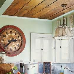 kitchen paneling ideas cottage charm wood paneling overhead 28 thrifty ways to customize your kitchen this house
