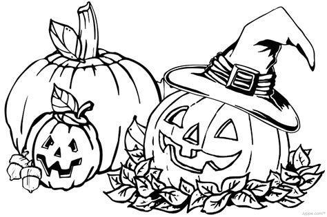 autumn coloring pages    print