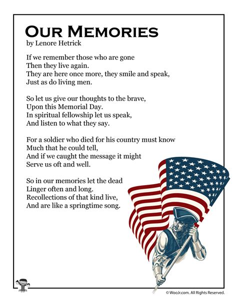 Printable Memorial Day Poems