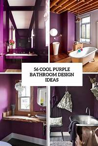 56, Cool, Purple, Bathroom, Design, Ideas
