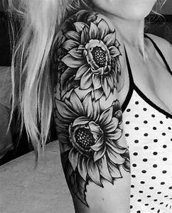 20 of the Most Boujee Sunflower Tattoo Ideas | Arm sleeve ...