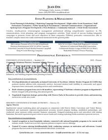 Event Planning Resume Exles by Sle Cover Letter Event Planner Resume Sle