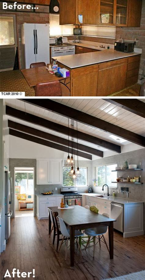 before and after kitchen makeovers before and after 25 budget friendly kitchen makeover 7624