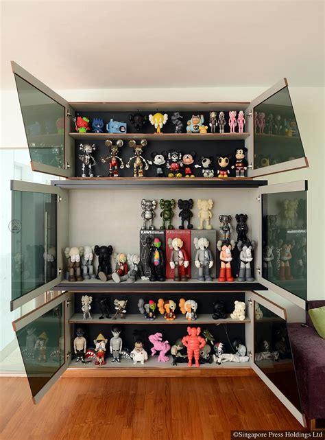 homes  bearbrick figurine collectors home decor