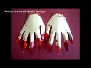 Halloween Sachen Basteln : halloween deko blutige zombie h nde aus papier basteln youtube ~ Whattoseeinmadrid.com Haus und Dekorationen