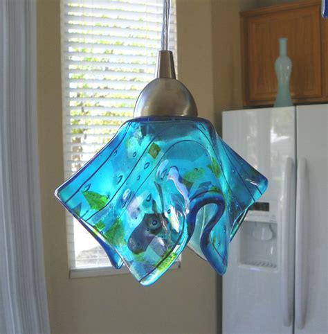 blue confetti glass pendant light l kitchen island