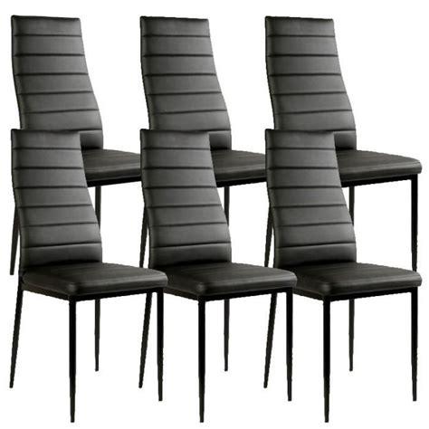 lot chaise pas cher chaise noir giga matelassée lot de 6 achat vente chaise