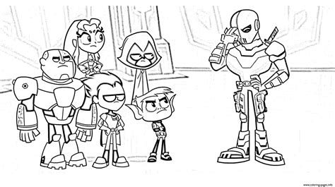 teen titans  cartoon kids coloring pages printable