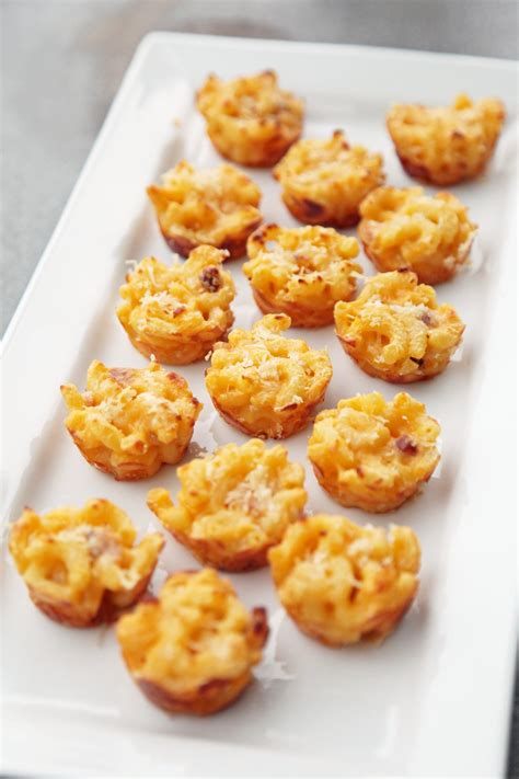 mini macaroni and cheese appetizer recipe popsugar food