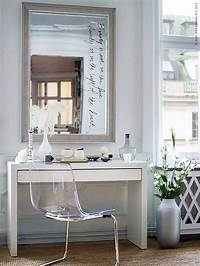 make up vanity IKEA Micke Desk as Makeup Vanity with Large Mirror and ...