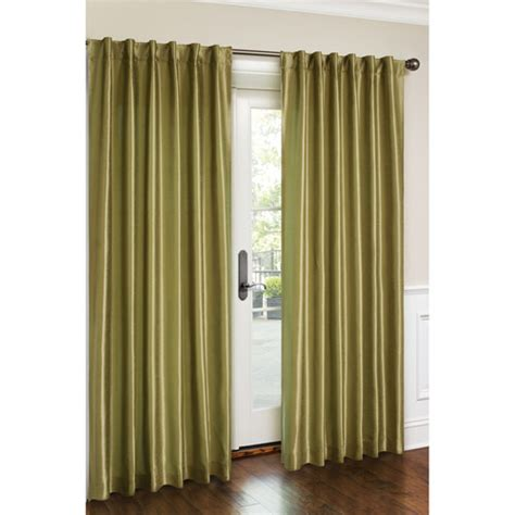 canopy faux silk lined curtain panel walmart