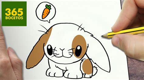 como dibujar conejito kawaii paso  paso dibujos kawaii faciles   draw  rabit youtube